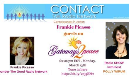 Frankie Picasso Guests on Gateway 2 Peace, Monday, March 13th