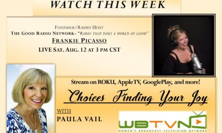 Frankie is a Guest on Finding your JOY TV with host Paula Vail