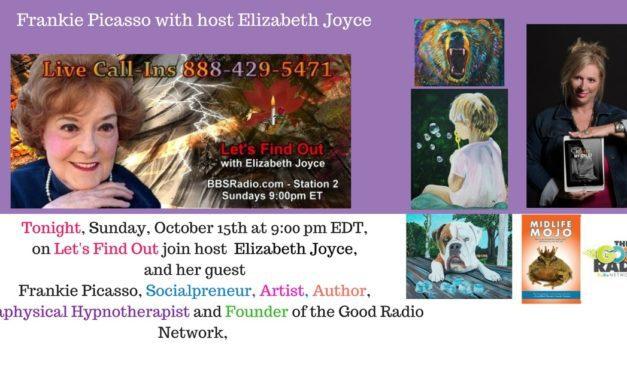 Lets Find Out host Elizabeth Joyce interview w/ Frankie Picasso