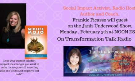 Monday Feb. 5 at NOON Frankie Picasso is a Guest on The Janis Underwood Show- Unleashing the Creator Within…For Real!